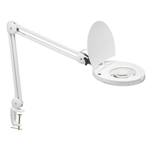 Dainolite DMLED10-A-WH - LED Magnifier w/A-Bracket White