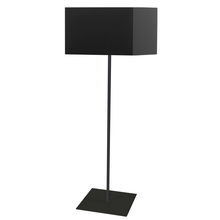 Dainolite MM201F-BK-797 - 1LT Square Floor Lamp w/ Black Shade