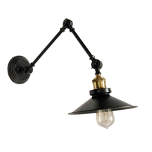 Dainolite V928-1W-BK - 1LT Incandescent Adjustable Wall Lamp, Blk finish