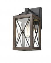 DVI DVP43371BK+IW-CL - County Fair 12.25 inch wall sconce